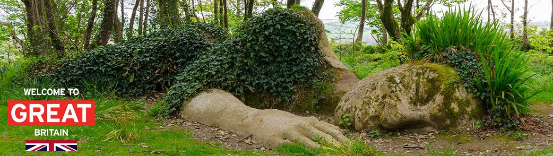 England Route Durch Die Englischen Gärten Und Felder Auf Eigene