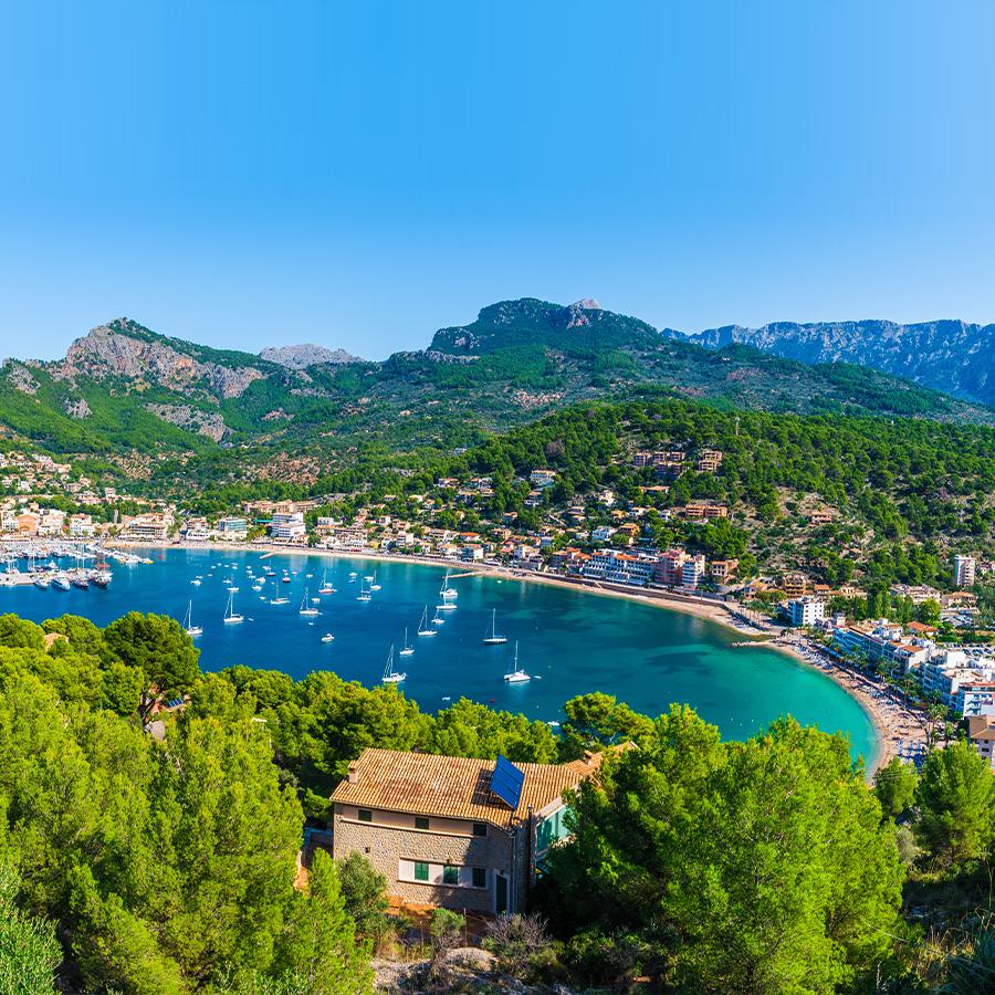 Spanien Mallorca Balearen Route Entlang Der Kuste Und Dem